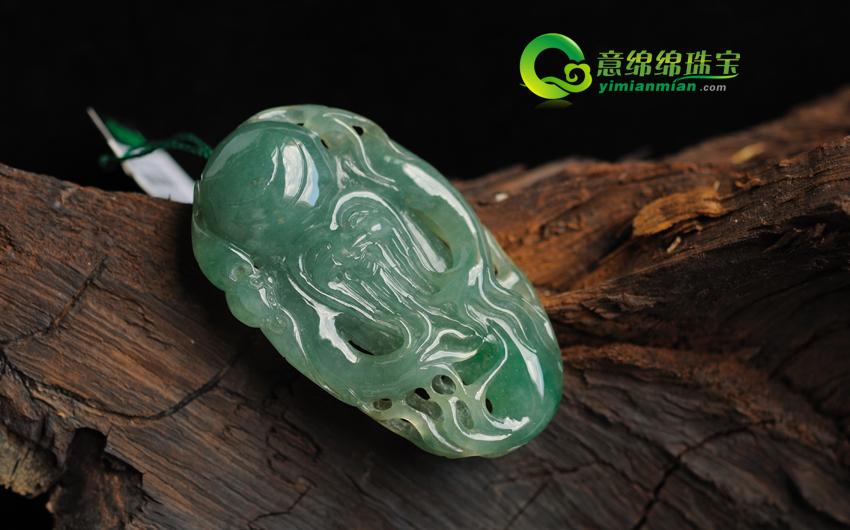 翡翠禅意素描竹子雕刻图